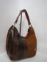 Женская сумка из натуральной кожи и замша