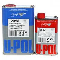 Лак акриловый U-Pol 20:81 1л + отвердитель 20:32 0,5л