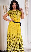 Платье из штапеля с 50 по 56 размер 4 цвета