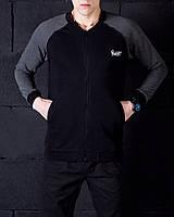 Мужской бомпер Pobedov 🔥 (Темно-серый - черный) 🔥 Dark-gray - black