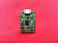 Micro USB Контроллер заряда /разряда, плата защиты 1S 3.7V li-ion TP4056  NEW! v2, фото 1