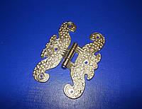 Петля декоративная бабочка 7см золото, фото 1