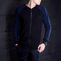 Мужской бомпер Pobedov 🔥 (Темно-синий - Черный) Navy - black
