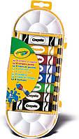 Краски в тюбиках (8 цветов) + кисточка, ТМ Crayola, 7407