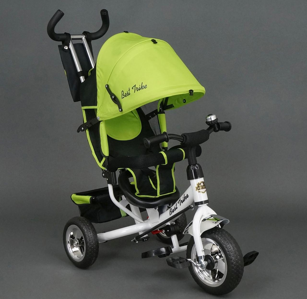 Велосипед детский 3-х колёсный Best Trike 6588 салатовый колесо пена