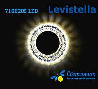 Светильник встраиваемый с LED подсветкой Levistella 716B206 под лампу Mr16