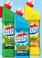 AGENT MAX средство для чистки унитаза Лимон 1 л