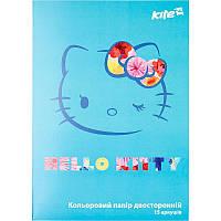 Кольоровий папір двостороння Kite Hello Kitty А4 HK17-250