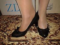 Туфли женские черные (Польша), р. 36.37.39.