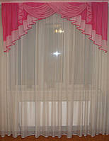 Ламбрикен Дуга 2м малиново-розовый