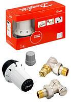 Danfoss Клапан RA-FN + термостатический элемент RAS-C + клапан запорный RLV-S угловой