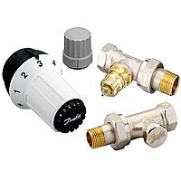 Danfoss Клапан RA-FN + термостатический элемент RAS-C + клапан запорный RLV-S прямой