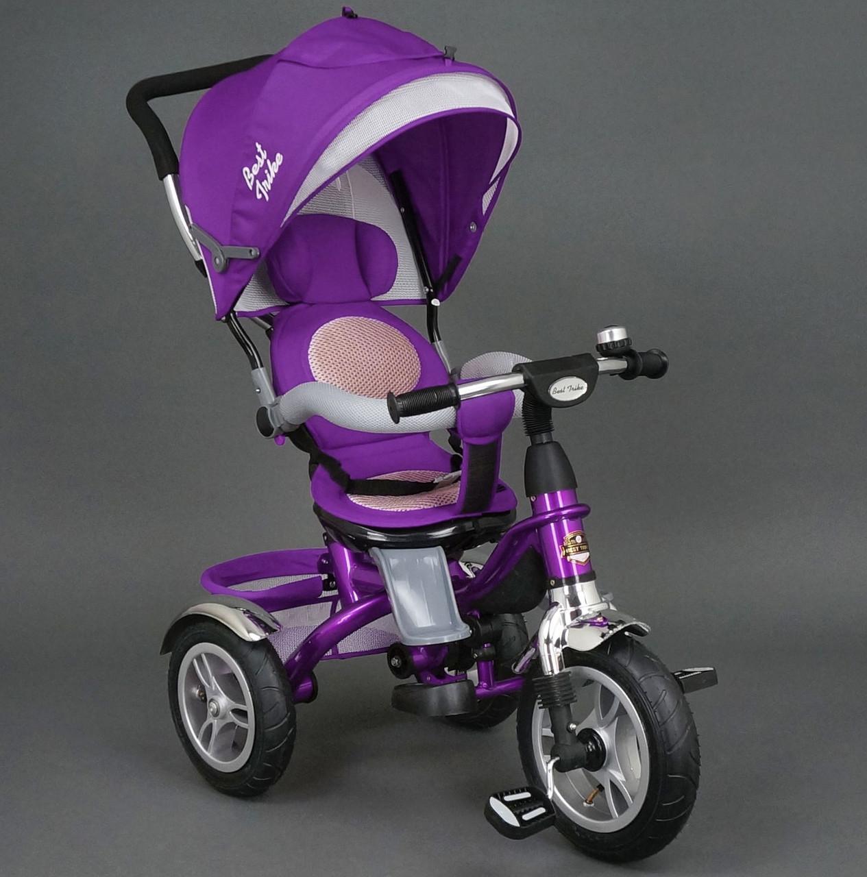 Велосипед 3-х колёсный 5688 Best Trike фиолетовый надувное колесо