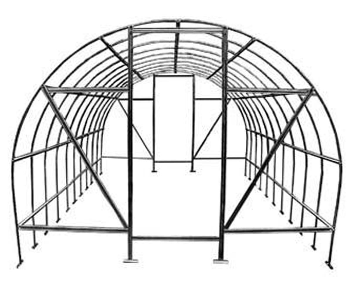 Теплица Оскар Дачница 31,5м²  (300х1050х200см) Каркас Под Пленку Серый