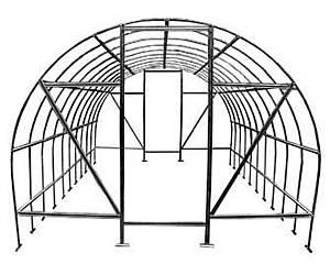 Теплица Оскар Дачница Стронг 30м²  (300х1000х200см) Каркас Под Пленку