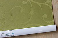 Рулонные шторы на окна ткань Акант 2058 (оливковый цвет) 40см