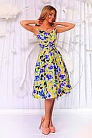 Женский летний сарафан с пышной юбкой миди