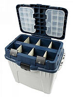 Ящик рыбацкий зимний Aquatech 2870, 3 отделения в ящике, 2 встраиваемые коробки, в крышке 8 частей