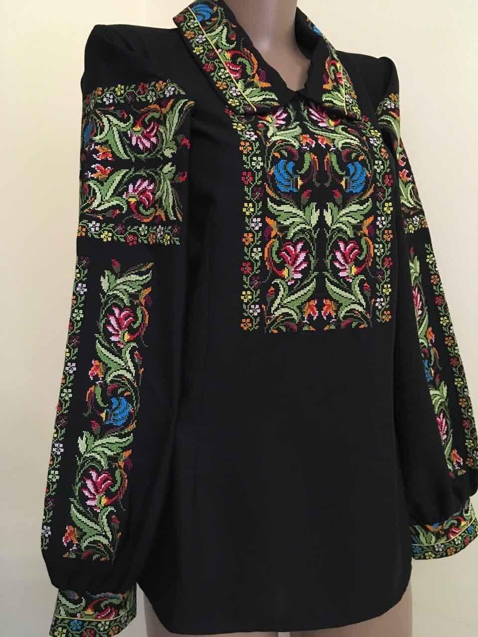 b017caf7de5a73 Дизайнерська вишита сорочка на комірець розмір 42-44 (S-M): продажа ...