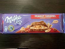 Шоколад milka peanut caramel (милка карамель с арахисом) 276г.