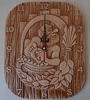 """Часы настенные для бани, сауны  """"Банник""""- сувенирные"""