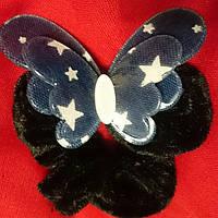 Резинка для волос велюр бабочка