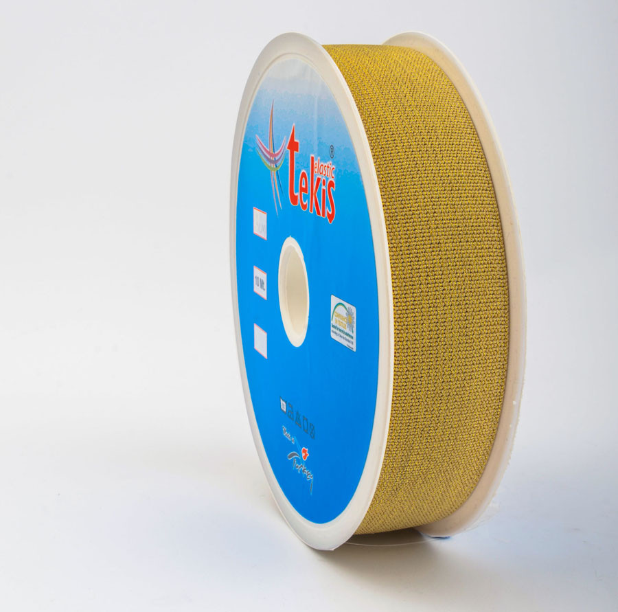 30 mm Elastic Tape / Silvery / 10 m