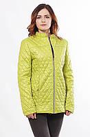 Женская стильная весенняя куртка Саша 2-Р лайм 44-56 размеры