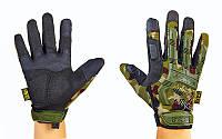 Перчатки тактические Mechanix Wear Woodland с защитой костяшек пальцев