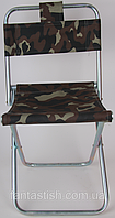 Кемпинговый складной стул со спинкой, пятнистый камуфляж CHZ