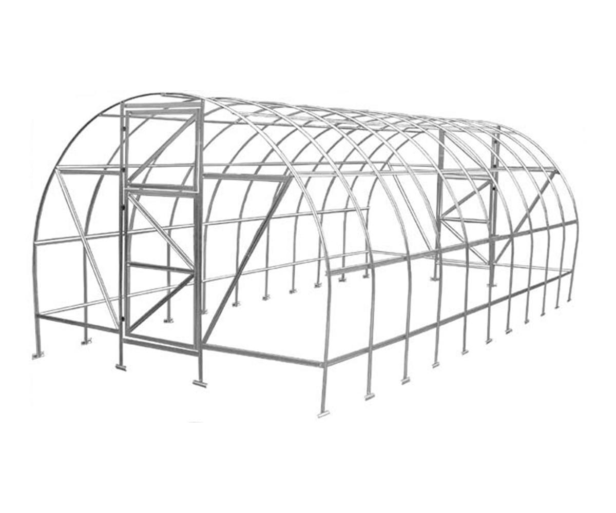 Теплица Оскар Дачница Стронг 32м² (400х800х250см) Каркас Под Пленку