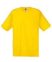 Модная мужская футболка без рисунков и принтов ORIGINAL T SCREEN STARS ярко-желтая
