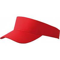 Козырек коттоновый Myrtle Beach MB096 красный