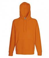 Оранжевая мужская кенгурушка без принта весна-осень