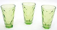 Набор стеклянных стаканов 375мл (3шт) зеленый