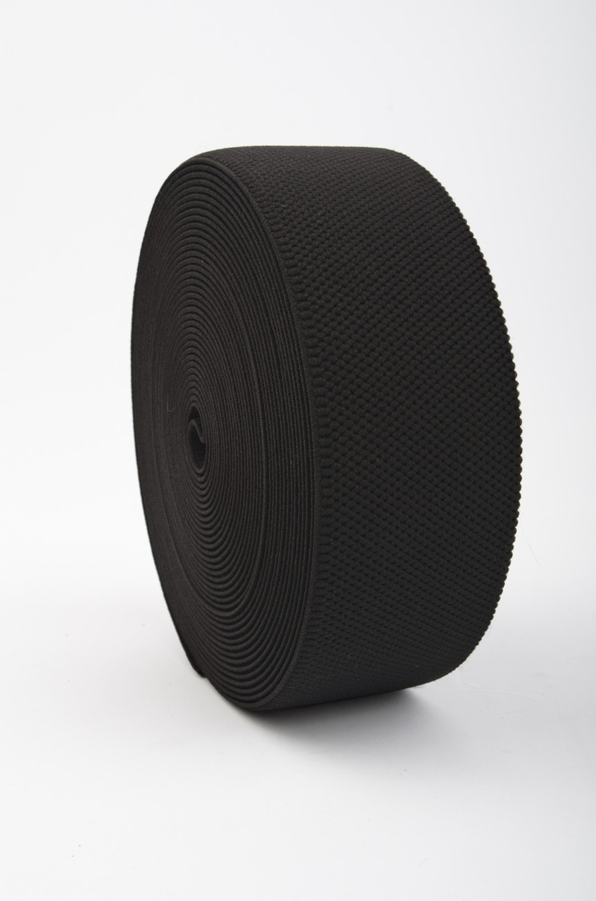 60 mm Honeycomb Elastic / 10 m / Black