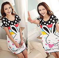 Домашнее платье с принтом ANNA  (44 размер,  размер M )