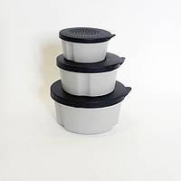 Набор коробок для червей Aquatech, на крышках отверстия для вентиляции, коробки разного диаметра: 11, 9, 7 см