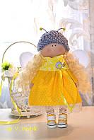 Кукла девочка Пчелка , мягкая игрушка - стиль тильда 30 см.