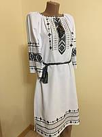 Сукня вишита дизайнерська ручної роботи розмір 46 ( L), фото 1
