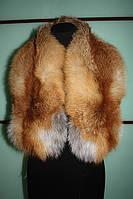 Меховый воротник из рыжей лисы