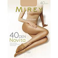 Тонкие классические прозрачные дешевые колготки Mirey с шортиками и усиленным мыском 40den nov40