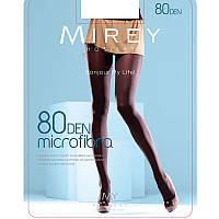 Эластичные женские недорогие матовые непрозрачные колготки Мирей из микрофибры 80den  micr80
