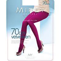 Модные матовые эластичные колготки Mirey из микрофибры трехмерной эластичности 70den velv70