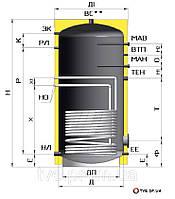 Бойлер  1000 литров косвенного нагрева для горячей воды (ГВС)