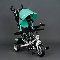 Трехколёсный детский велосипед Best Trike 6588 бирюзовый , колесо пена