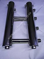 Распределительный коллектор на 2 пары выходов из нержавеющей стали.