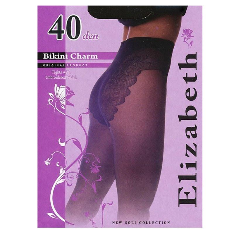 Тонкие, придающие шарм, матовые колготки с кружевными бикини и комфортным поясом 40 den Арт.00120-1