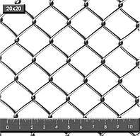 Сетка плетеная Рабица 45х3,0 оцинкованная ГОСТ 5336-80