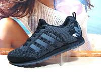 Мужские кроссовки Adidas (реплика) черные 43 р., фото 1